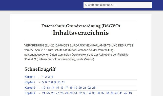 DSGVO Website
