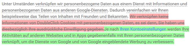 Google Datenschutzerklärung